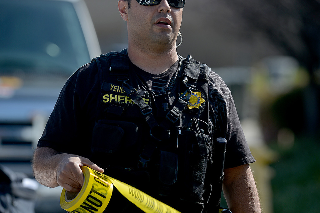 Description of . San Bernardino County Sheriff's Department are investigating the scene on a deputy involved shooting that happened early Friday morning along Brushwood Court in Chino Hills. (Photo by Rick Sforza/Inland Valley Daily Bulletin)