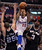 The Clippers' Matt Barnes #22 drives between Spurs' Nando de Colo #25 and Stephen Jackson #3 to the hoop during their game at the Staples Center in Los Angeles Friday, February  21, 2013. The Spurs beat the Clippers 116-90. (Hans Gutknecht/Staff Photographer)