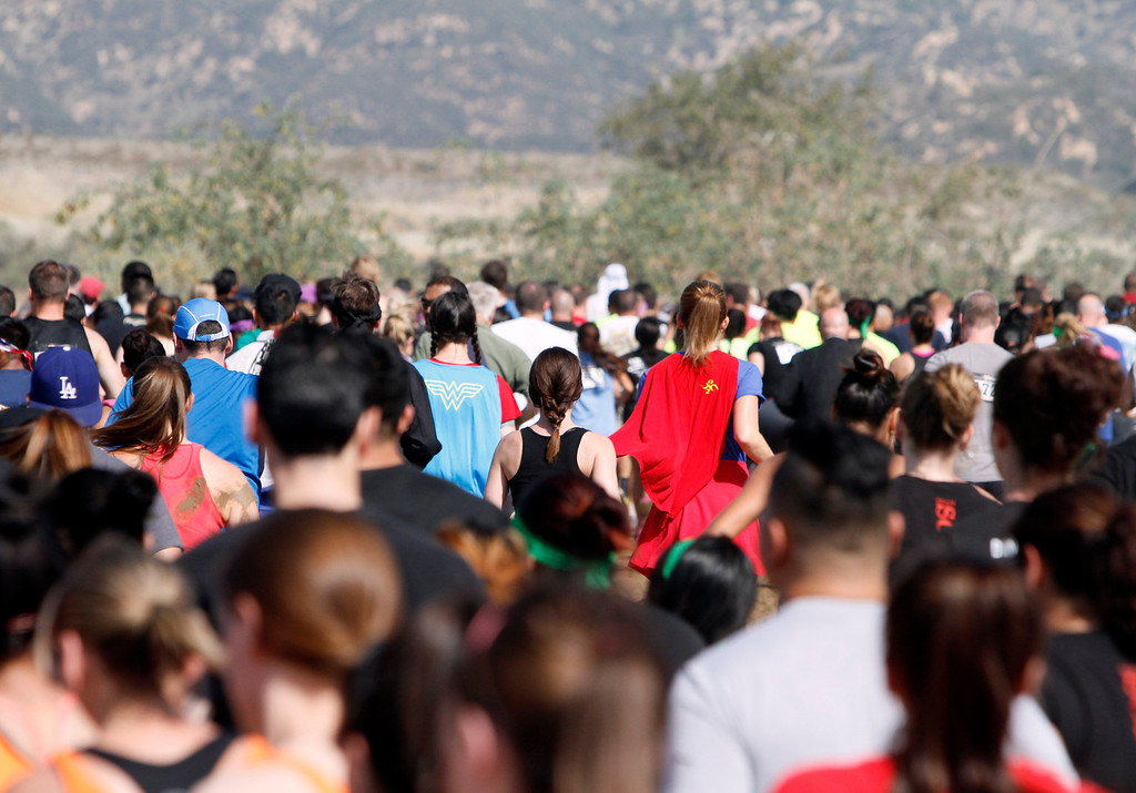 Description of . The Sheriff's Athletic Federation's annual 5K Mud Run takes place on Saturday, May 17, 2014 at the Sheriff's Department Academy in Devore, Ca. (Photo by Micah Escamilla/Redlands Daily Facts)