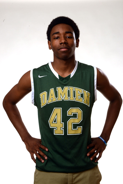 Description of . Damien's Jeremy Hemsley, All-Area basketball Players at the San Gabriel Valley Tribune in West Covina, Calif., on Tuesday, April 8, 2014.  (Keith Birmingham Pasadena Star-News)