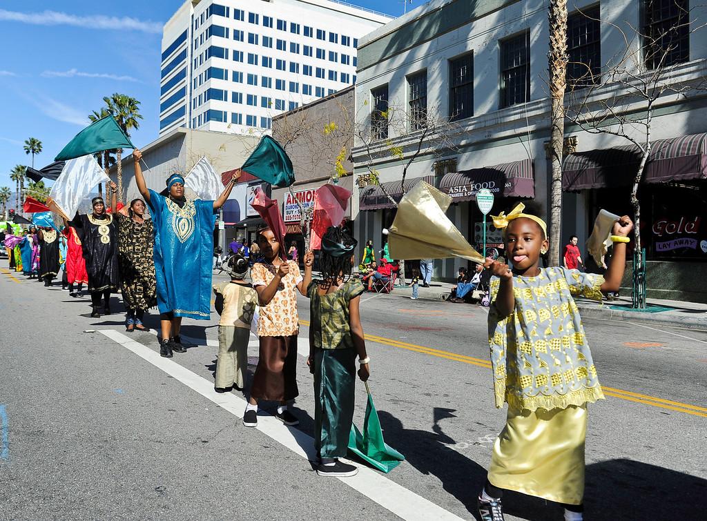 Description of . The San Bernardino Black Culture Foundation holds its 43 annual Black History Parade in downtown San Bernardino on Saturday, Feb. 4, 2012.  (Staff file photo/The Sun)