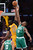 Lakers Dwight Howard drops in two as Celtics' Jeff Green defends during first half action at Staples Wednesday.  Photo by David Crane/Staff Photographer