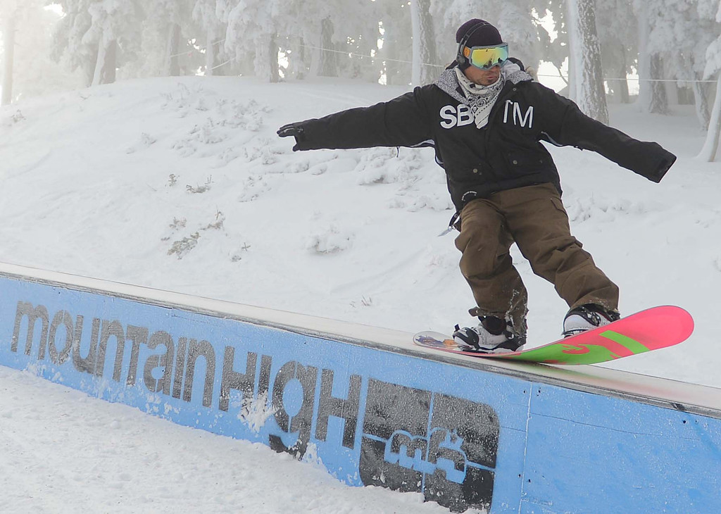 Description of . Mountain High is the first resort to open up in Southern California for the 2013-14 season. The resort opened Sunday, Nov. 24, 2013. LaFonzo Carter/The Sun