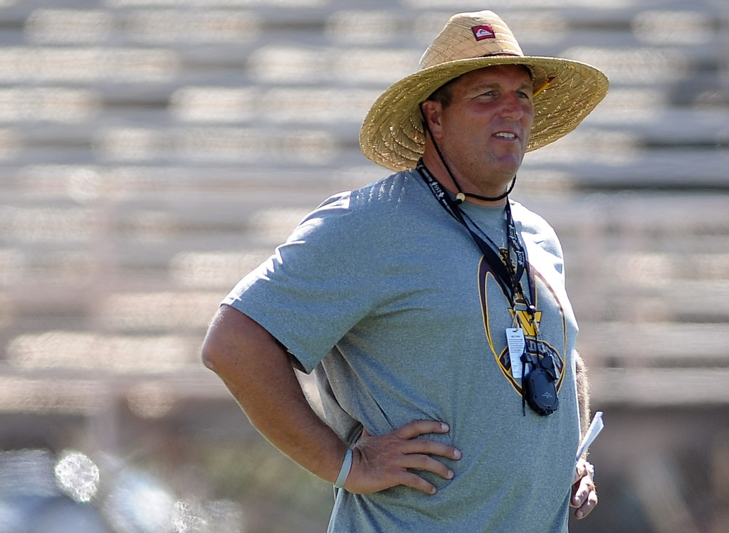 Description of . Head coach Mike Maggiore during football practice at West Covina High School on Tuesday, Aug. 20, 2013 in West Covina, Calif.   (Keith Birmingham/Pasadena Star-News)