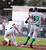 Temple City's pitcher Nick Starling (16) tries to out Monrovia's Erik Cox (13) at first during the Arcadia Elks Tournament Thursday, March 7, 2013 at Temple City High School.  (SGVN/Staff Photo by Sarah Reingewirtz)