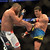 Lyoto Machida lands a front kick to the face of Dan Henderson during their UFC 157 match at the Honda Center in Anaheim Saturday, February  23, 2013. Machida won the fight via judges decision. (Hans Gutknecht/Staff Photographer)