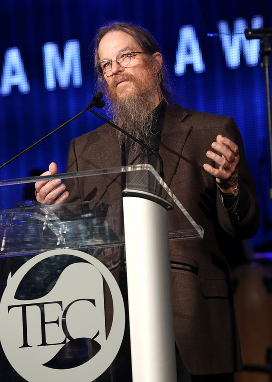 Description of . ANAHEIM, CA - JANUARY 24:  Audio engineer John Meyer attends the NAMM Tec Awards at the Anaheim Hilton on January 24, 2014 in Anaheim, California.  (Photo by Jesse Grant/Getty Images for NAMM)