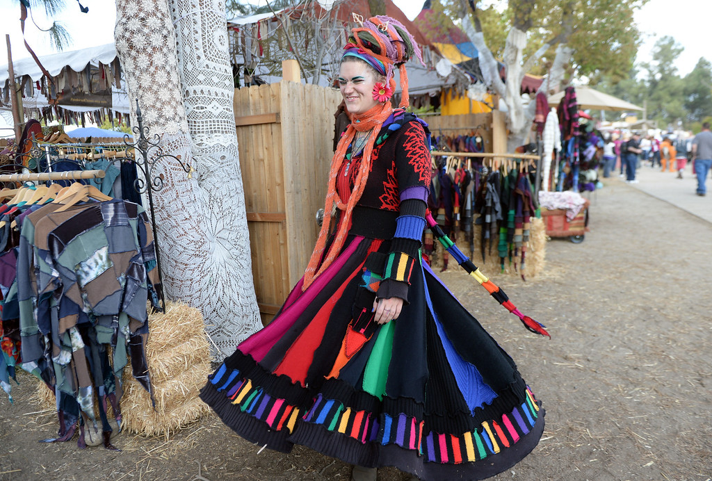 Description of . Period clothes and hats for sale on opening day of the Renaissance Pleasure Faire at Santa Fe Dam Recreation Area in Irwindale, Calif., on Saturday, April 5, 2014. 