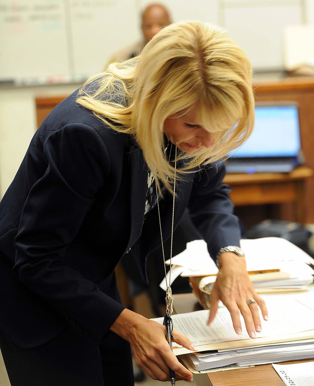 Description of . A former Redlands high school teacher charged with committing sex acts with students - including one who allegedly fathered her baby - accepted a plea bargain today in court.LaFonzo Carter/ Staff Photographer