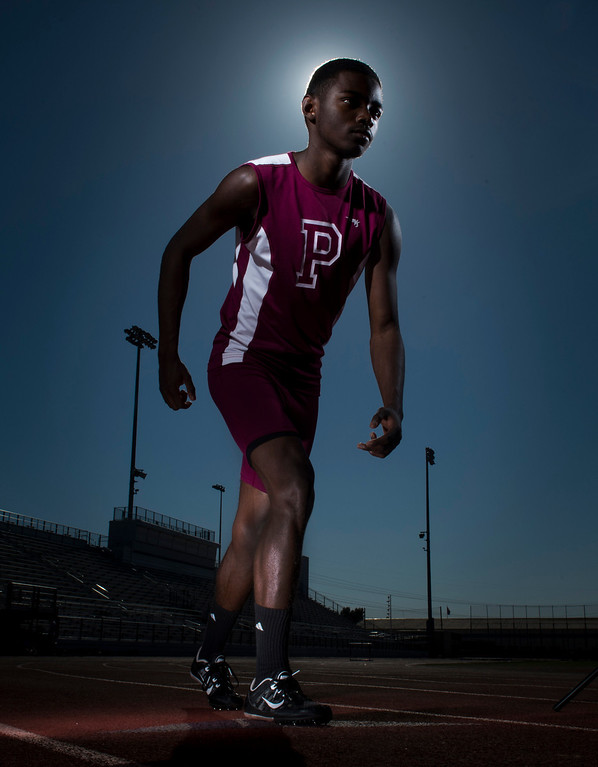 . Paramount High school 800-meter runner Daniel Mata has overcome childhood Leukemia to become one of the top runners in the State in Paramount, CA. Monday April 7, 2014.
