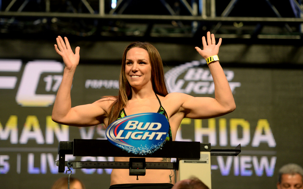 . Alexis Davis during weigh-ins for UFC 175 at the Mandalay Bay Events Center July 4, 2014. (Photo by Hans Gutknecht/Los Angeles Daily News)
