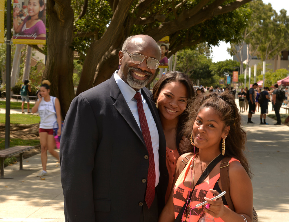 . Interim Cal State Dominguez Hills president, Willie Hagan, will be inaugurated as the university\'s 10th president in Carson, CA. Thursday May 1, 2014. (Thomas R. Cordova-Daily Breeze/Press-Telegram)