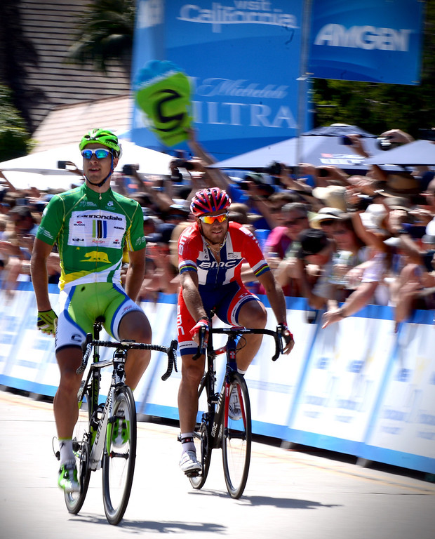 . Peter Sagan, of the Cannondale team, wins stage 7 of the Amgen Tour of California in Pasadena Saturday, May 17, 2014. (Photo by Sarah Reingewirtz/Pasadena Star-News)