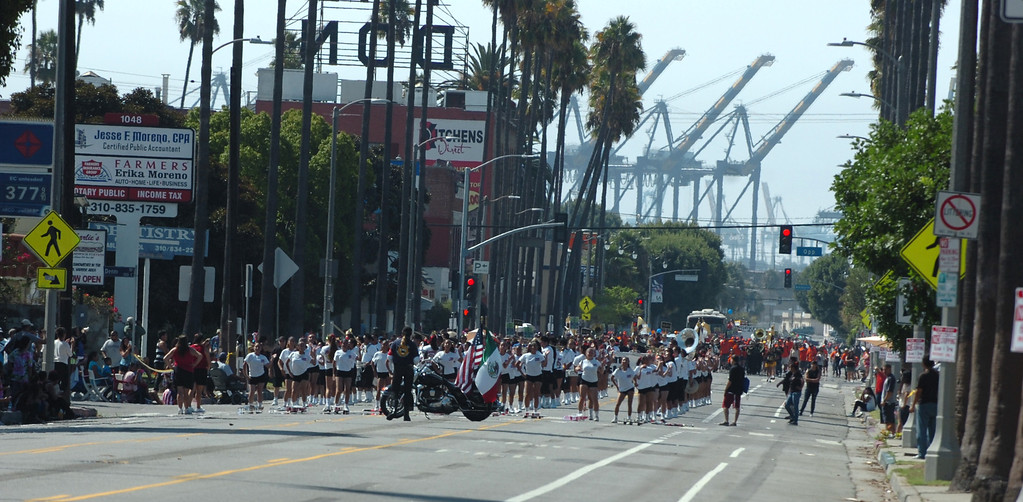 . Union workers and supporters from all over Southern California celebrate in the 34th annual Harbor Labor Day March and Rally in Wilmington September 2, 2013. (Thomas R. Cordova/Staff Photographer)