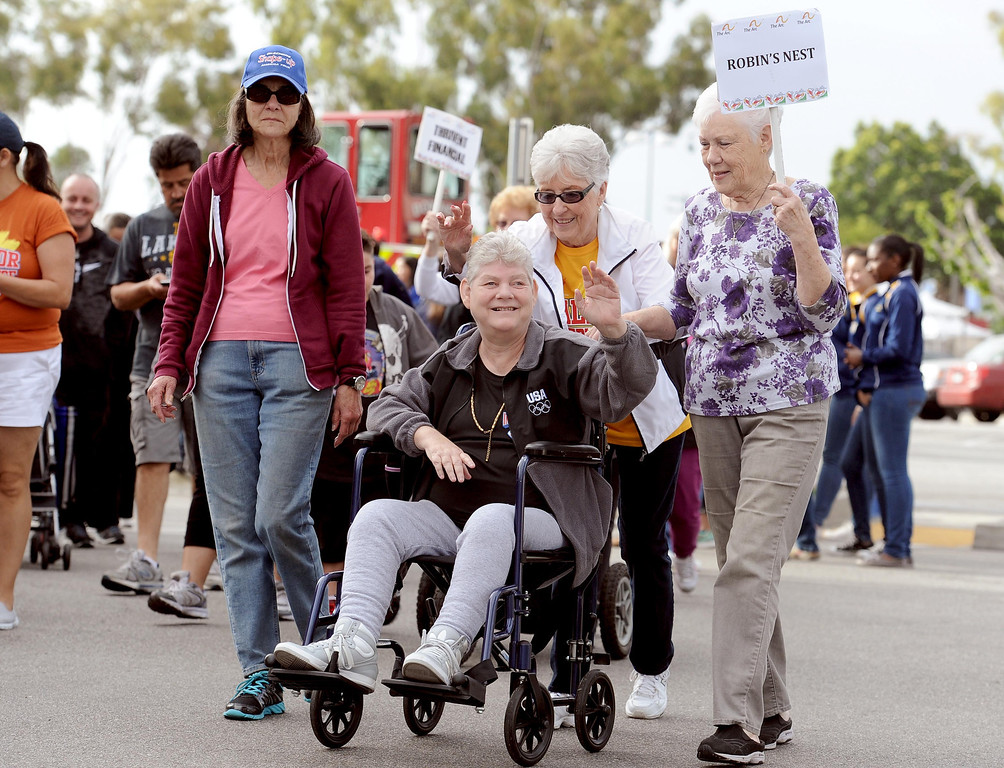 . Robin Terry and her team participate in the Arc Walk for Independence at the Stonewood Center in Downey, CA. on Saturday March 22, 2014. (Photo by Sean Hiller/ Daily Breeze).