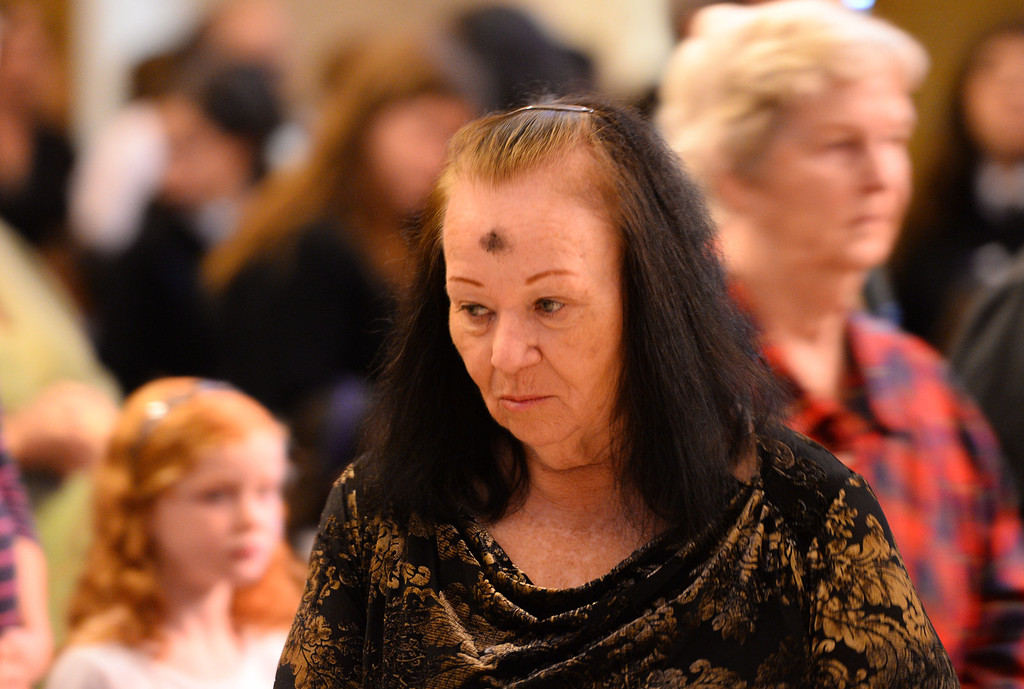 . Ash Wednesday Mass at Mary Star of the Sea Catholic Church in San Pedro.   (March 5, 2014. Photo by Brad Graverson/The Daily Breeze)