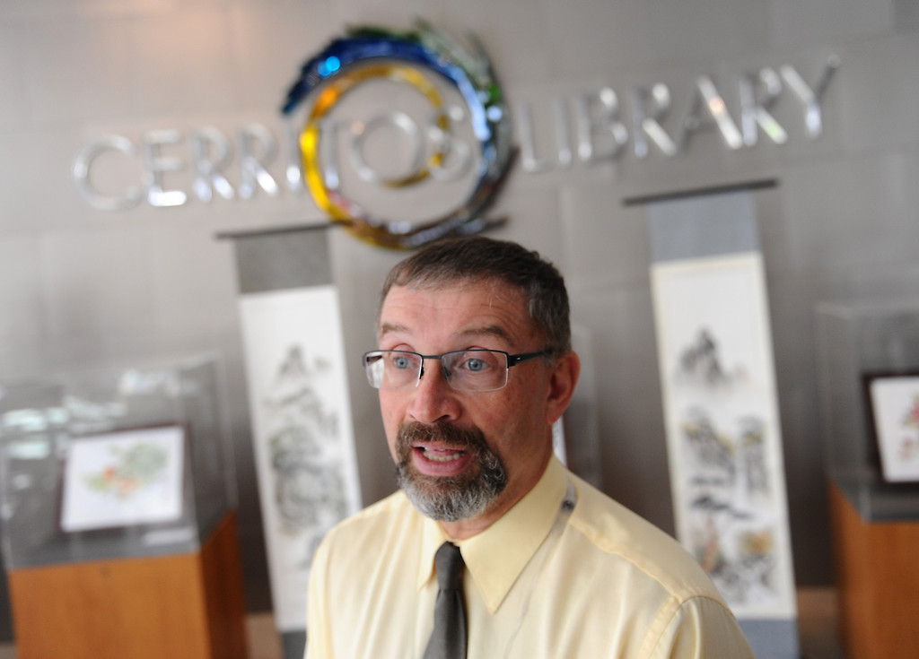 . Librarian Don Buckley. The Cerritos Library is is more like a public information center and gathering place. Lots of books, but also art, music and computers.   (Fri Nov. 8, 2013 Photo by Brad Graverson/The Daily Breeze)