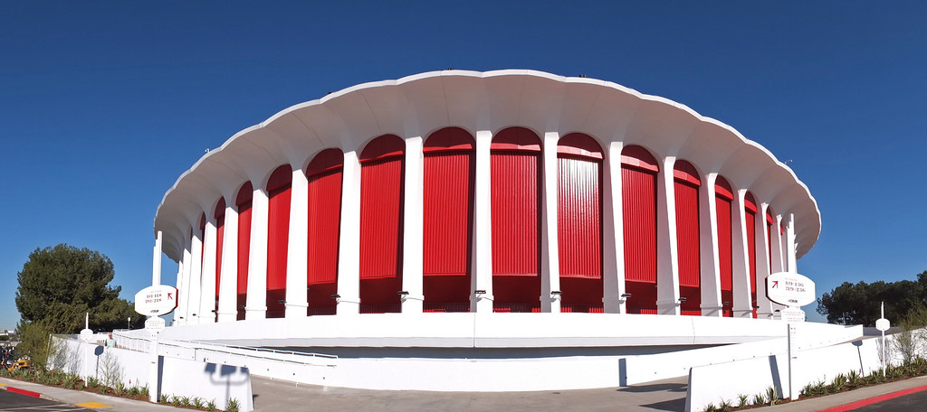 ". The new entertainment venue, the ""Fabulous\"" Forum in Inglewood has undergone a $100 million renovation, and is set to host the Eagles concert series starting Jan 15.    (Jan 14, 2014. Photo by Brad Graverson/The Daily Breeze)"