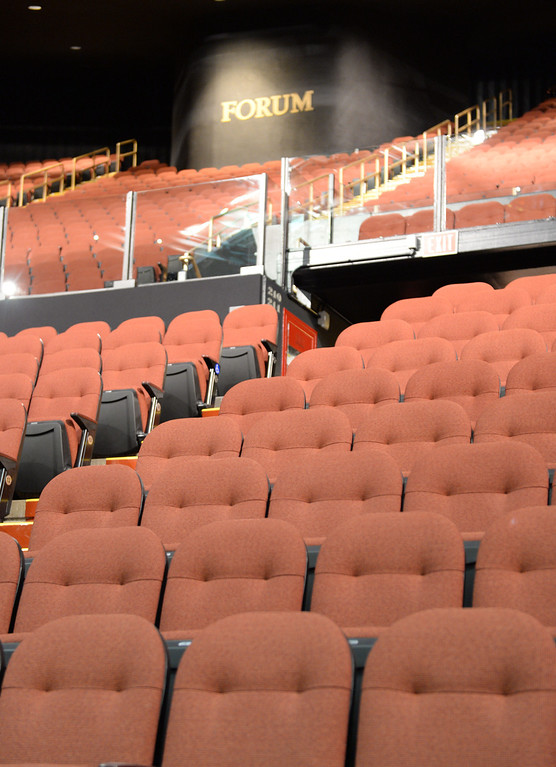 ". The new entertainment venue, the ""Fabulous\"" Forum in Inglewood has undergone a $100 million renovation, and is set to host the Eagles concert series starting Jan 15. New comfy seats throughout.    (Jan 14, 2014. Photo by Brad Graverson/The Daily Breeze)"