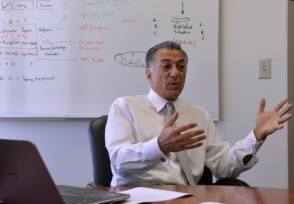 . Dean Forouzan Golshani of College of Engineering at Cal State University Long Beach in Long Beach, CA. Thursday April 24, 2014. (Thomas R. Cordova-Daily Breeze/Press-Telegram)