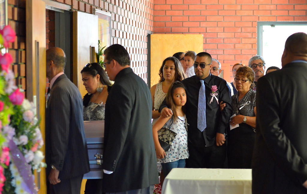 . Funeral services for three murdered Coronado children from Carson area. Rudy Coronado, father, at St. Anthony of Padua Church and Green Hills Memorial Park in Rancho Palos Verdes.    (June 2, 2014 Photo by Brad Graverson/The Daily Breeze)