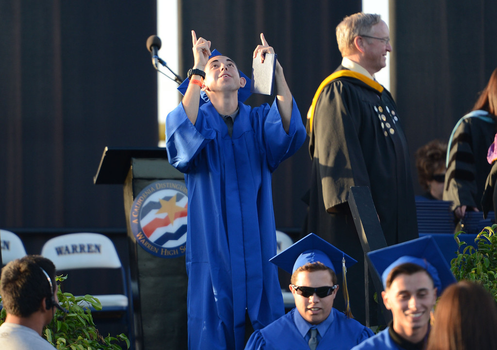. The Warren High School Commencement Ceremony, at Cerritos College.  Norwalk Calif., Thursday June 19th ,  2014.     (Photo by Stephen Carr / Daily Breeze)