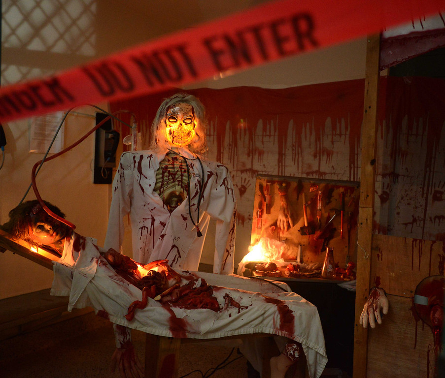 ". The Lakewood Sheriffs Station transformed its jail to a "" Haunted Jail \"" for the public to enjoy for one night only in Lakewood, CA. on Friday, October 25, 2013. (Photo by Sean Hiller/Press Telegram)."
