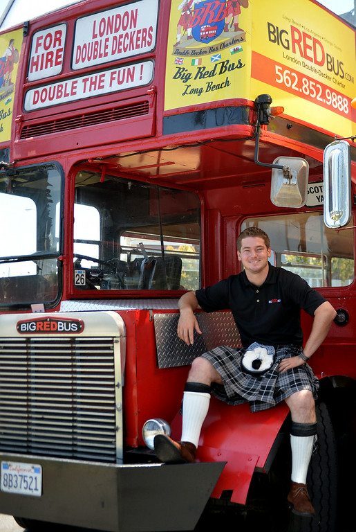 . James Bulac is the new owner of the big red double-deck buses that give tours along the coast. Long Beach July 3, 2014. (Photo by Brittany Murray / Daily Breeze)