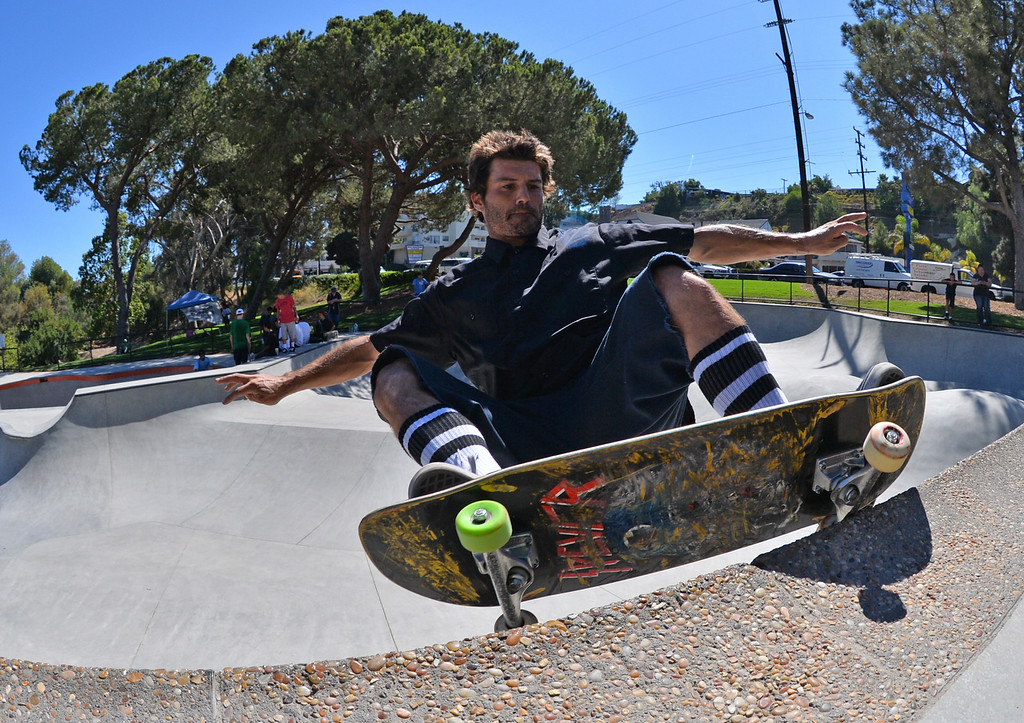 . Kyle Kaitanjian of Whittier. New San Pedro skatepark located in Peck Park along Western Ave. in SP. (Aug. 15 2014 Photo by Brad Graverson/The Daily Breeze)