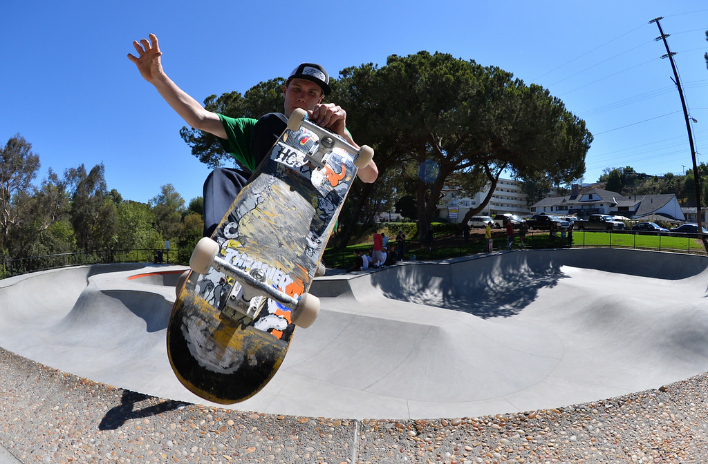 . Jordan Toledo of San Pedro. New San Pedro skatepark located in Peck Park along Western Ave. in SP. (Aug. 15 2014 Photo by Brad Graverson/The Daily Breeze)