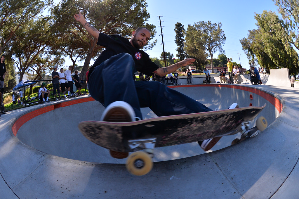 . Ryan Pickens of San Pedro. New San Pedro skatepark located in Peck Park along Western Ave. in SP. (Aug. 15 2014 Photo by Brad Graverson/The Daily Breeze)