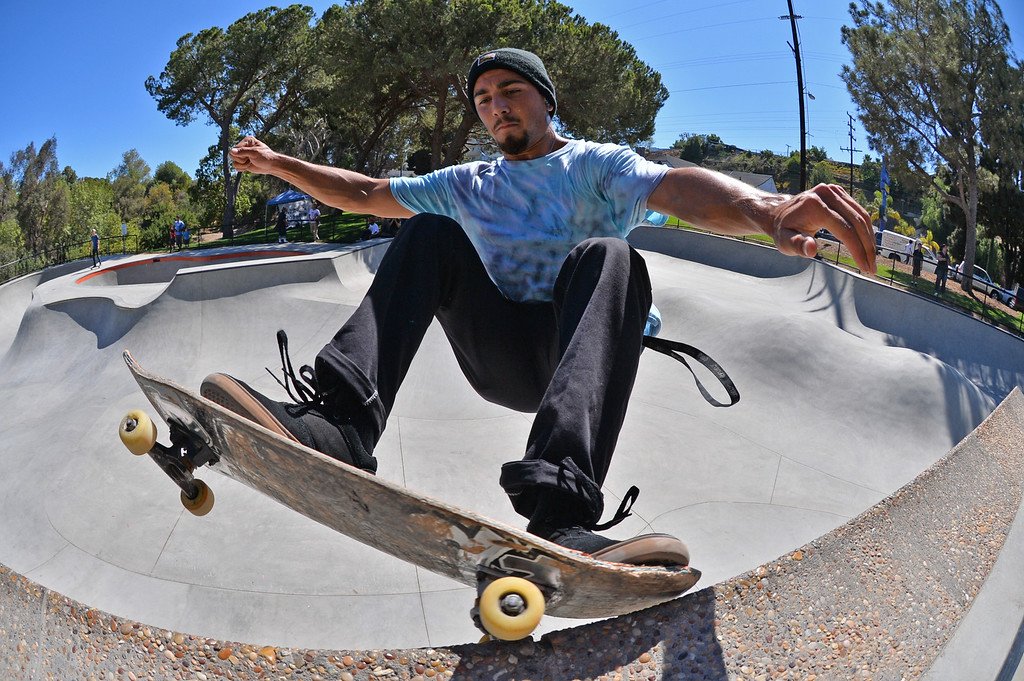 . Zack Bell of San Pedro. New San Pedro skatepark located in Peck Park along Western Ave. in SP. (Aug. 15 2014 Photo by Brad Graverson/The Daily Breeze)