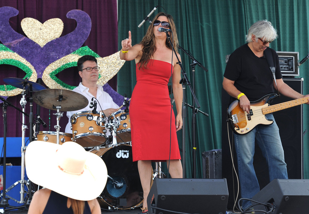 . The Shari Puorto Band band plays at the 28th Annual Long Beach Bayou Festival, at Rainbow Lagoon. Long Beach Calif.,  Saturday June 21,  2014.     (Photo by Stephen Carr / Daily Breeze)