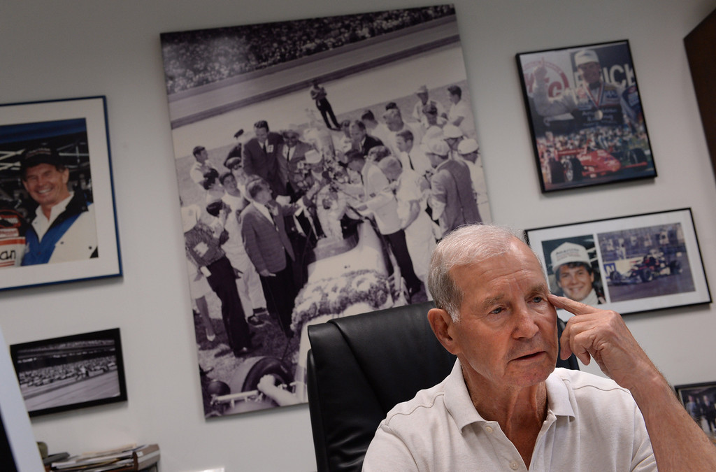 . Parnelli Jones, 80, the famed race car driver and Indy 500 winner has written a new book. Location is his Torrance office.  The Daily Breeze/Photo by Brad Graverson Friday, 11/7/13
