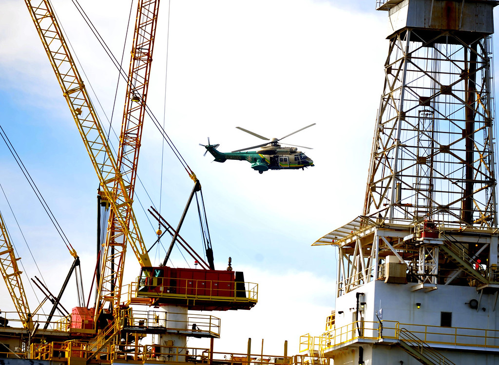 . Los Angeles County Sheriff�s Department conducted a homeland security training drill at oil platform Eureka, off the coast between Catalina and Long Beach on Tuesday, November 26, 2013. (Photo by Sean Hiller/ Daily Breeze).