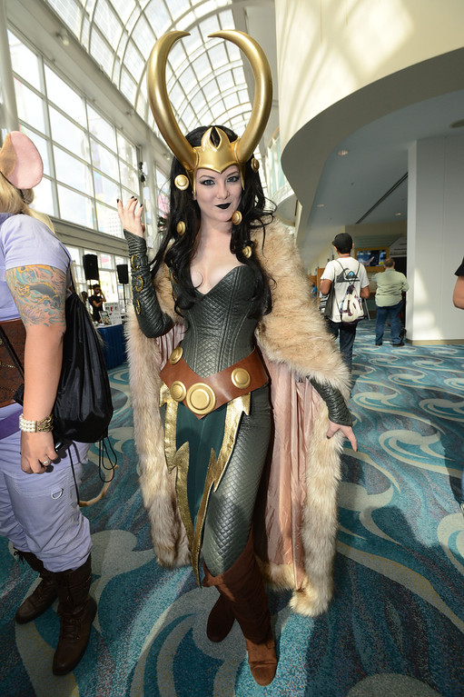 . Dressed as Lady Loki, Ash Smith, of Huntington Beach Calif., at the the 5th annual Long Beach Comic Con & Horror Con, held at the Long Beach Convention Center.   Long Beach Calif., Saturday, November, 23, 2013.   (Photo by Stephen Carr / Daily Breeze)