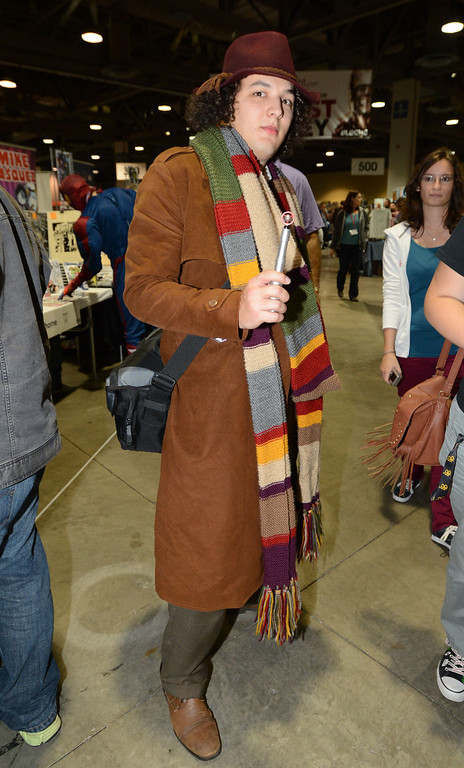 . Dressed as Dr. Who Peter Roig, of Whittier Calif., at the the 5th annual Long Beach Comic Con & Horror Con, held at the Long Beach Convention Center.   Long Beach Calif., Saturday, November, 23, 2013.   (Photo by Stephen Carr / Daily Breeze)
