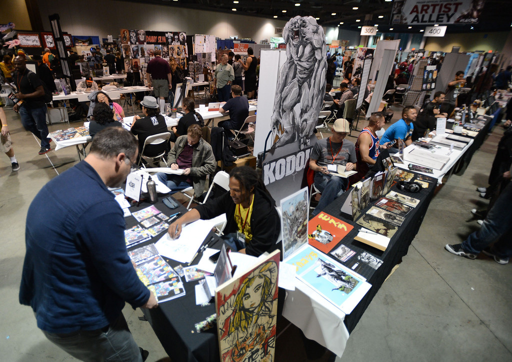 . Artist Alley at the 5th annual Long Beach Comic Con & Horror Con, held at the Long Beach Convention Center.   Long Beach Calif., Saturday, November, 23, 2013.   (Photo by Stephen Carr / Daily Breeze)