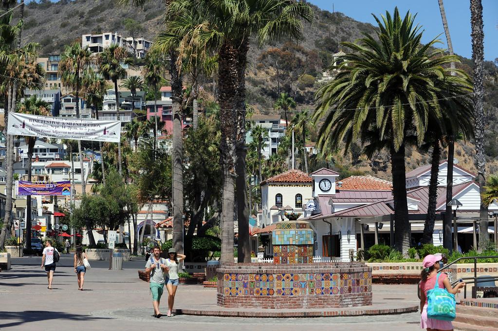 . Avalon, Calif., -- 09-04-13-  The city of Avalon, on Catalina Island,  still has quaint beach homes and shops. This year Avalon turns 100.    Stephen Carr/  Press-Telegram