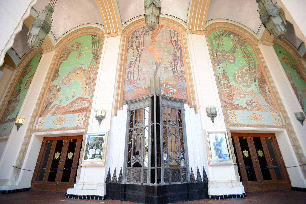 . Avalon, Calif., -- 09-04-13-  The from entrance to the Catalina Casino.  An art deco structure that opened in 1929. It is the most recognizable landmark in city of Avalon, on Catalina Island. I contains a ballroom, theater and museum.  This year the city of Avalon turns 100.    Stephen Carr/  Press-Telegram