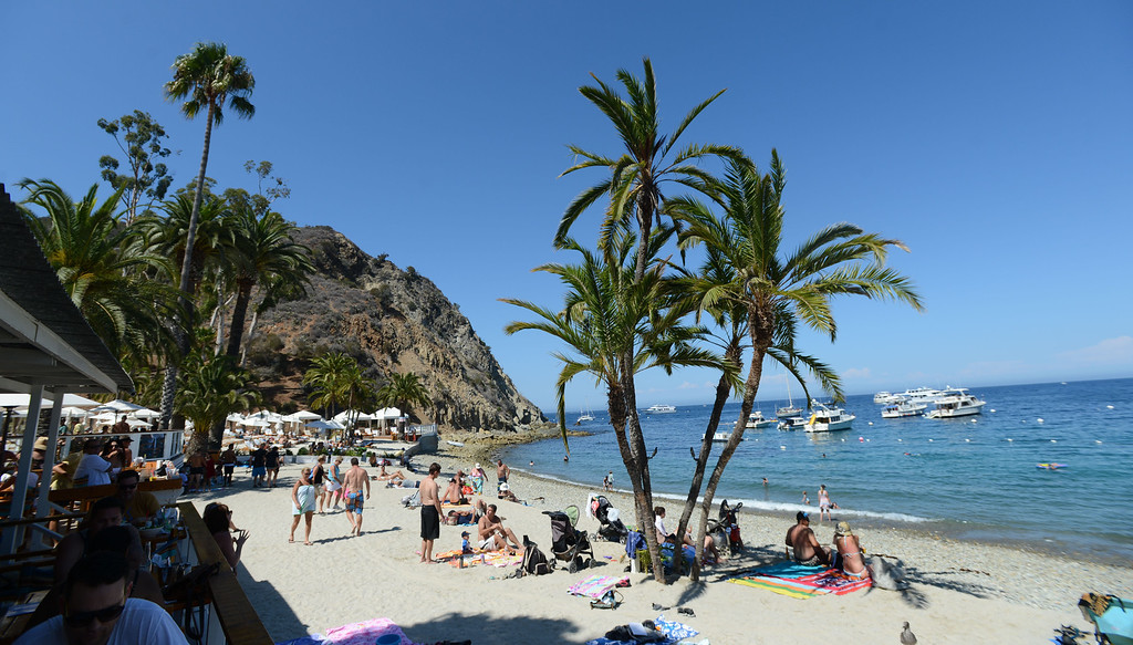 . Avalon, Calif., -- 09-04-13-  Descanso Beach Club,  in the city of Avalon , on Catalina Island. This year Avalon turns 100.    Stephen Carr/  Press-Telegram