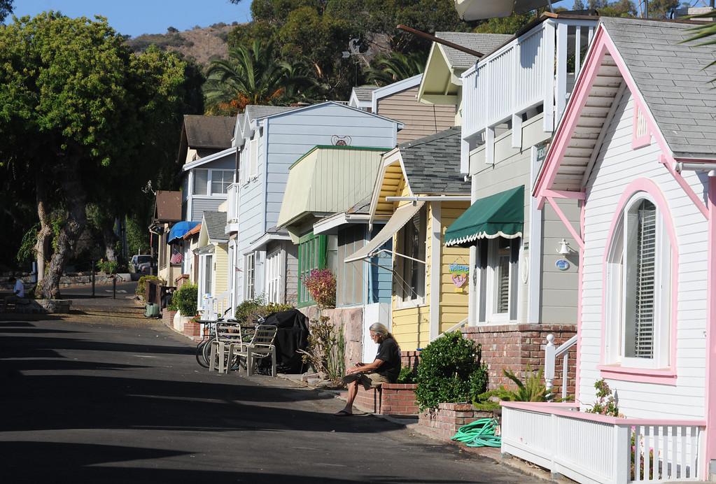 . Avalon, Calif., -- 09-04-13-  The city of Avalon, on Catalina Island,  still has quaint beach homes. This year Avalon turns 100.    Stephen Carr/  Press-Telegram