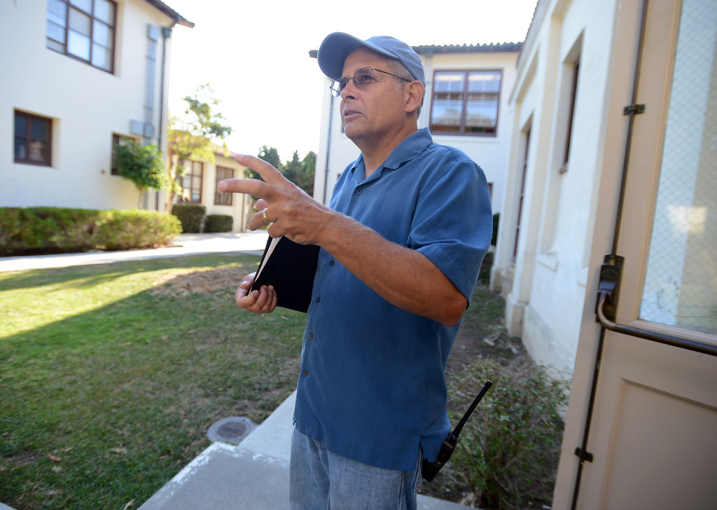 . Avalon, Calif., -- 09-04-13-  Avalon Schools activities director and dean of students Wayne Herbst. The school started in 1924 is now is a K through 12 school.  This year Avalon turns 100.    Stephen Carr/  Press-Telegram