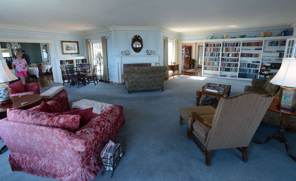 . Avalon, Calif., -- 09-04-13-  The living room at The Inn On Mt. Ada, once the home of William Wrigley, Jr., who bought 99% of Catalina Island in 1919. The building was completed in 1921 sit 350 feet above the city of Avalon and is now an Inn. This year Avalon turns 100.    Stephen Carr/  Press-Telegram