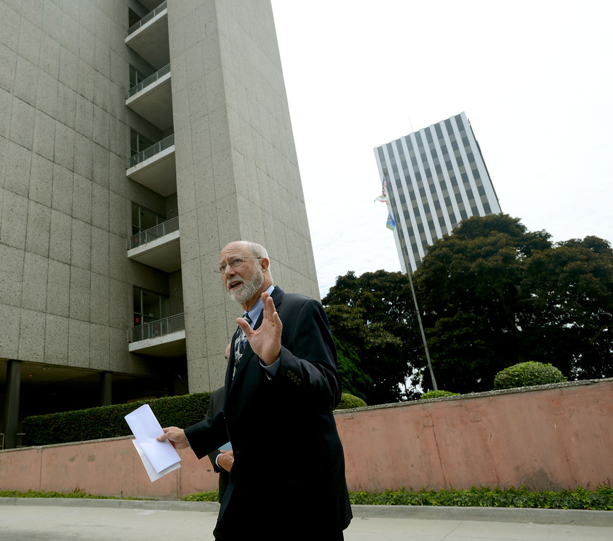 . Judge James Otto leads a tour to compare the existing Long Beach Courthouse with the new Gov. George Deukmejian Courthouse in Long Beach. (Photo by Sean Hiller/ Press Telegram/ LANG) 08-27-2013