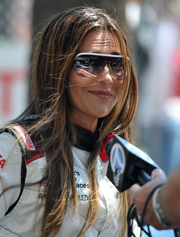 . Vanessa Marcil after a practice session at the Toyota Grand Prix of Long Beach Pro/Celeb Race. Long Beach April 11, 2014.  (Photo by Brittany Murray / Daily Breeze)