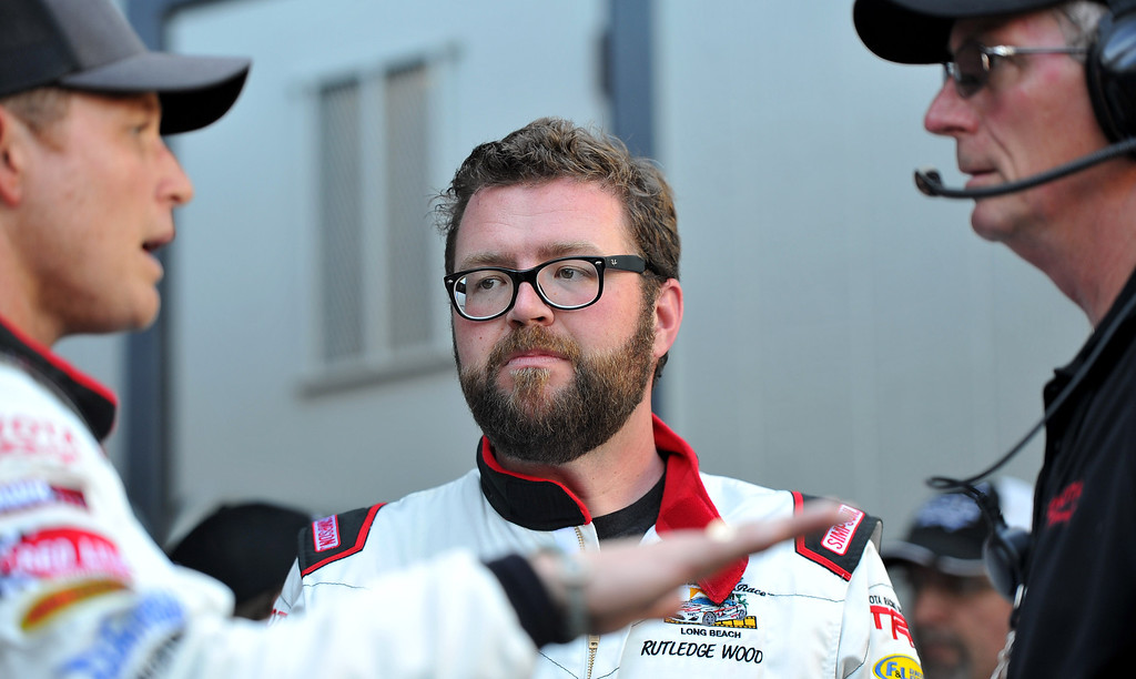 . Rutledge Wood after  the qualifying round of the Toyota Grand Prix of Long Beach Pro/Celeb Race. Long Beach April 11, 2014. (Photo by Brittany Murray / Daily Breeze)
