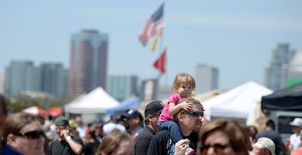 . The Queen Mary welcomed back the West Coast BBQ Classic for an afternoon of finger lickin� food for the whole family in Long Beach, CA. on Saturday May 10, 2014. (Photo by Sean Hiller/ Daily Breeze).