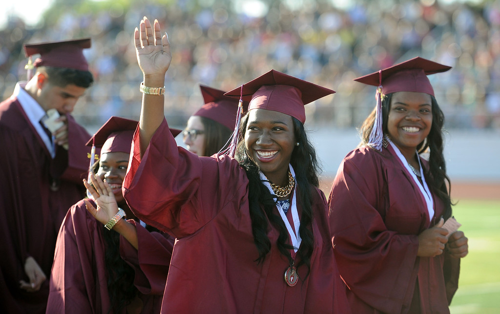 . Paramount High School Graduation Thursday June 11, 2014. (Photo by Sean Hiller/ Daily Breeze).