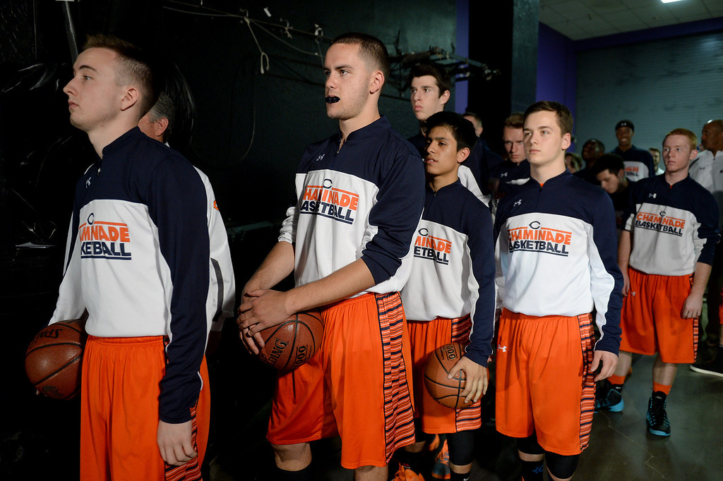 . Chaminade stands ready to take the court against Sir Francis Drake in the CIF-State Division III Finals. (Photo by Michael Owen Baker/L.A. Daily News)